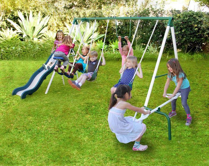Live Oak Metal Slide and Swing Set