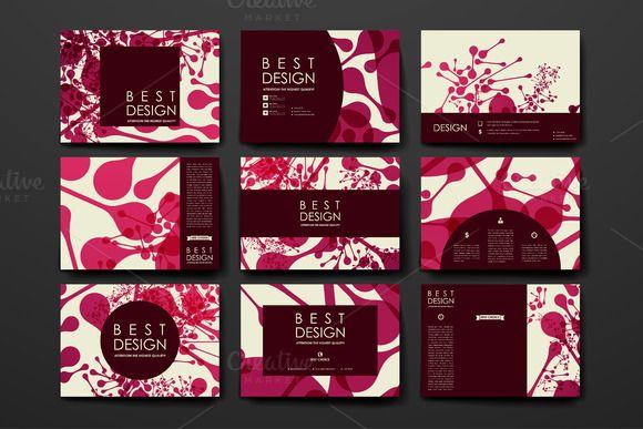 Set of Beautiful Cards by Palau on Creative Market