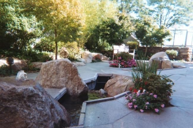 The Mary Eagan Garden at Children's Hospital Boston at Waltham, adjoining the Beth Israel Deaconess Cancer Care Center