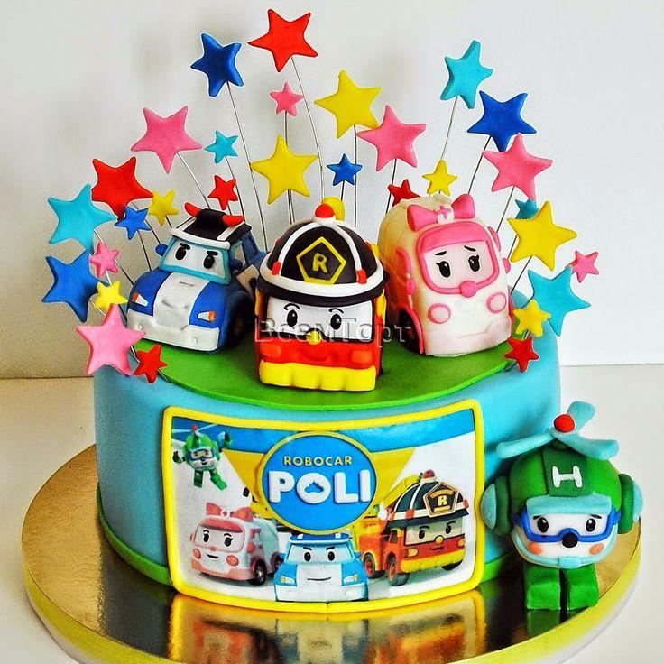 Торт Робокар Поли. Заказ торта в Москве на день рождения для детей