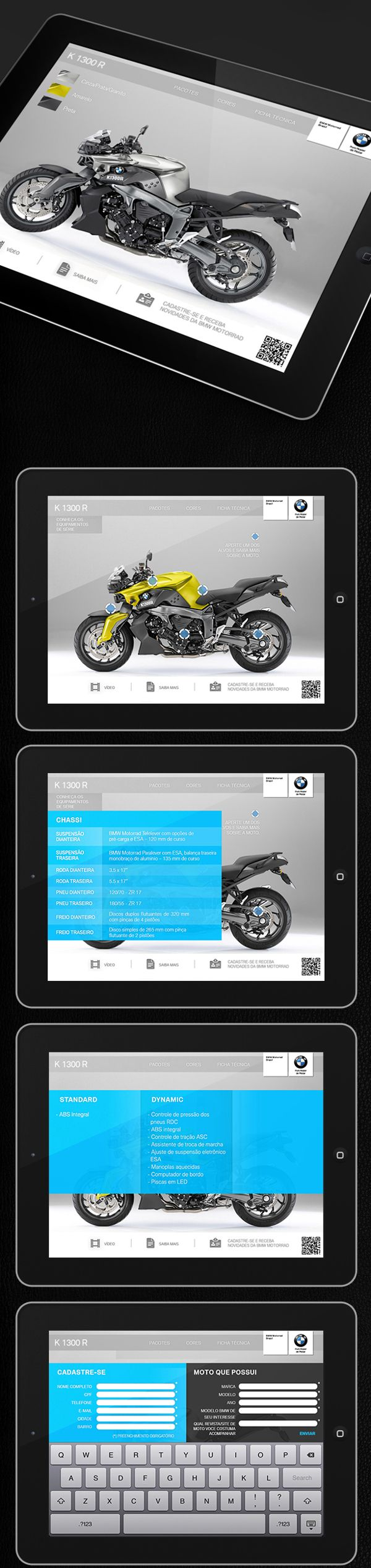 BMW Motorrad Brasil | Web App by Bruno Capella, via Behance