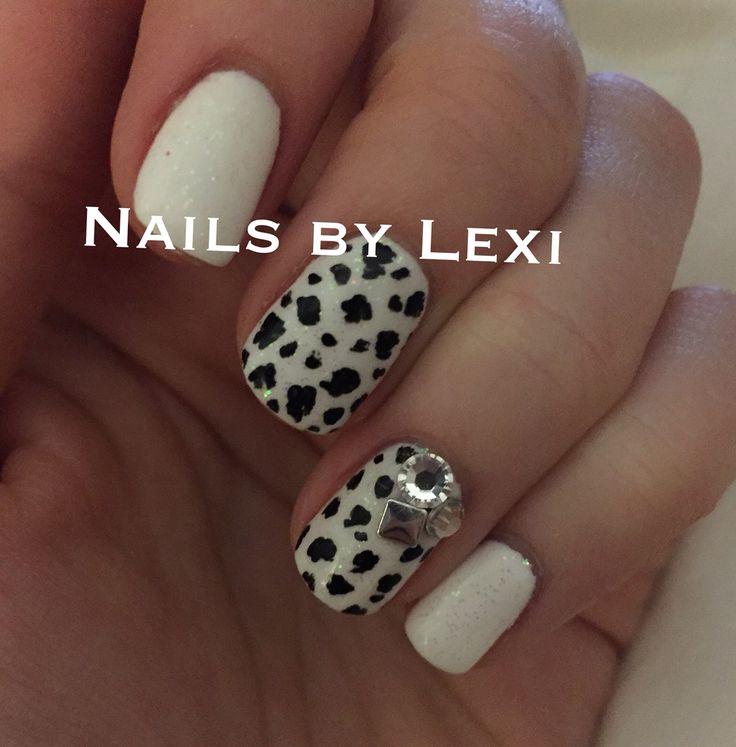 Dalmatian print manicure