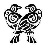 Tatuaggio di Huginn e Muninn, Pensiero e Memoria tattoo - TattooTribes.com