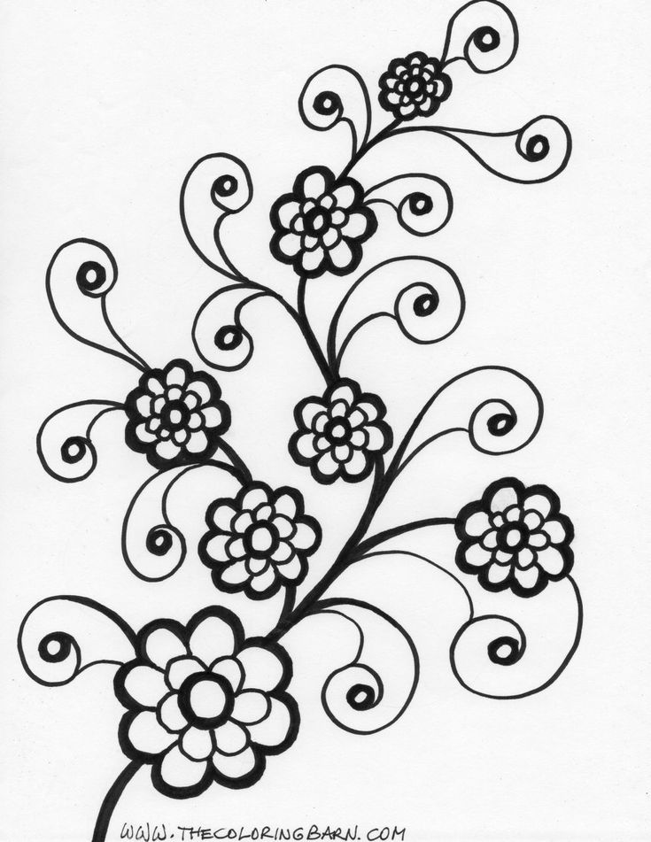 garden state parkway sign coloring pages | flowers coloring book pages | coloring page tall flower ...