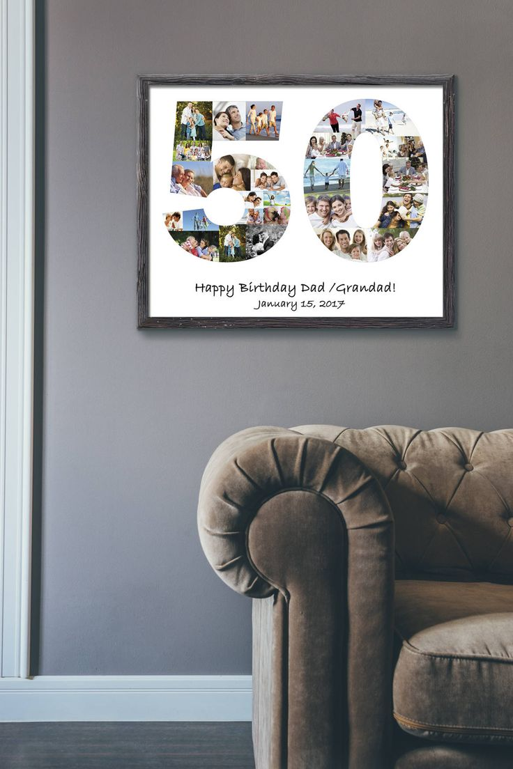 Digital File Personalized Birthday Gift Number Photo Collage