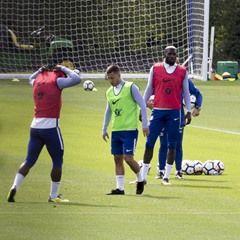 Chelsea FC first team training in Cobham, Surrey