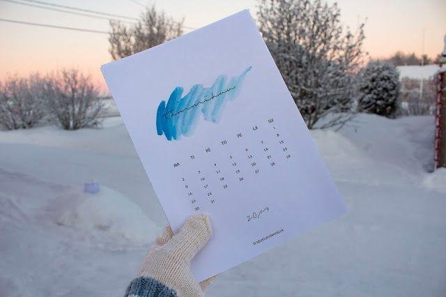 SISUSTUSVÄRKKÄILYÄ: TULOSTETTAVA KALENTERI 2017/PRINTABLE CALENDAR 2017