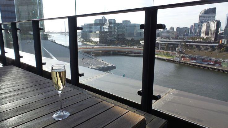 Hilton South Wharf Executive Lounge View in Melbourne, Australia