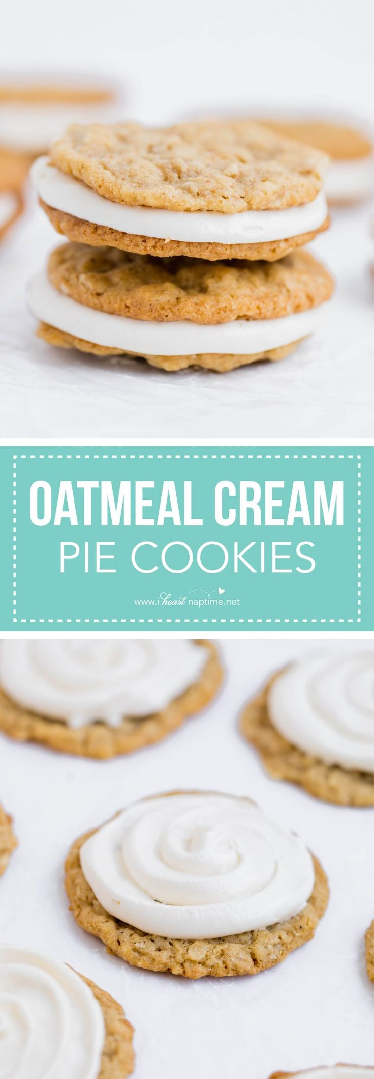 Oatmeal cream pie cookies - I Heart Nap Time