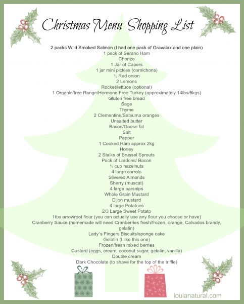 65 best Christmas Grocery List☑ images on Pinterest Christmas - free xmas menu templates
