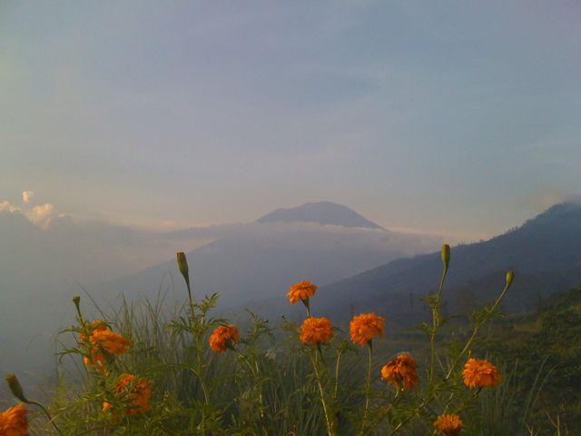 magical moment with Mt Agung Bali