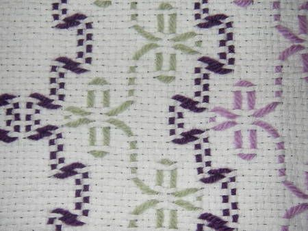 Swedish Weaving (Monk's Cloth) Baby Afghan - FIBER ARTS
