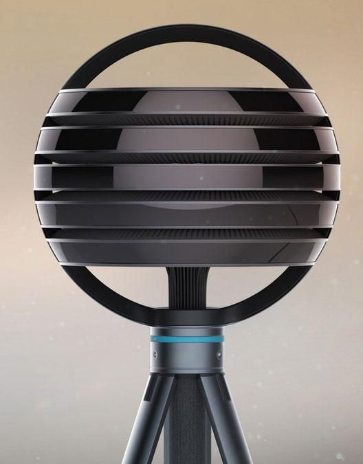 "The Lytro Immerge is about the size of a beach ball with with five ""layers"" of optics. Each layer is loaded with lenses and image sensors to capture high-resolution spherical video all around the camera"