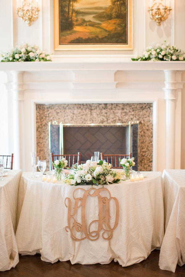 Monogram on Sweetheart Table | photography by http://katelynjames.com
