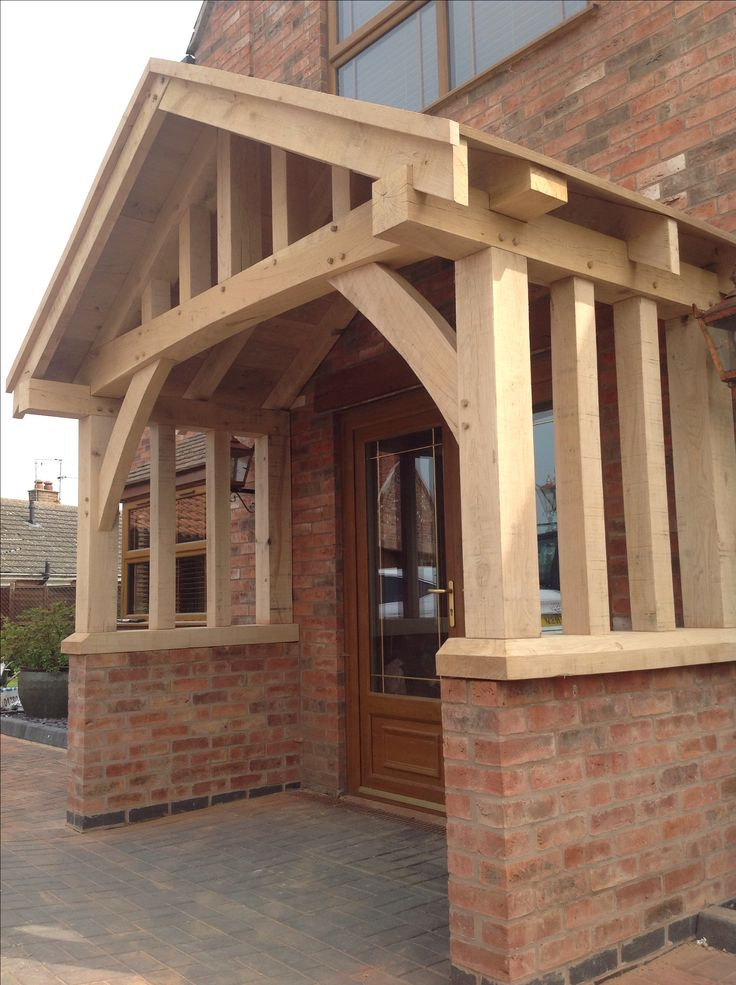 Hand made oak porch by wow.bespoaktimberframes.co.uk