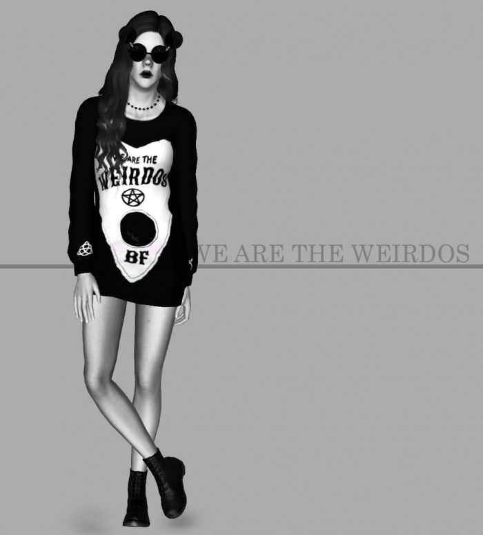 We are weirdos sweaters by STACHE SIMS - Sims 3 Downloads CC Caboodle