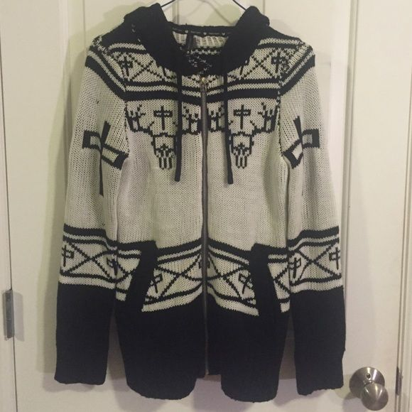 Zip-up hoodie knit cardigan Perfect condition never been worn - super soft RedDragon Sweaters Cardigans