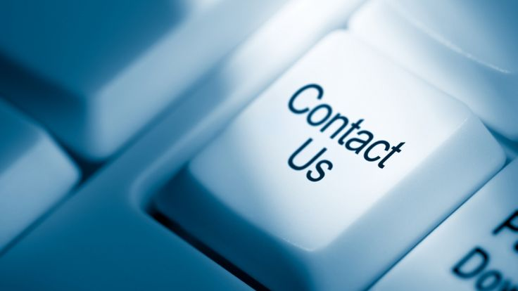 Contact us key on a keyboard