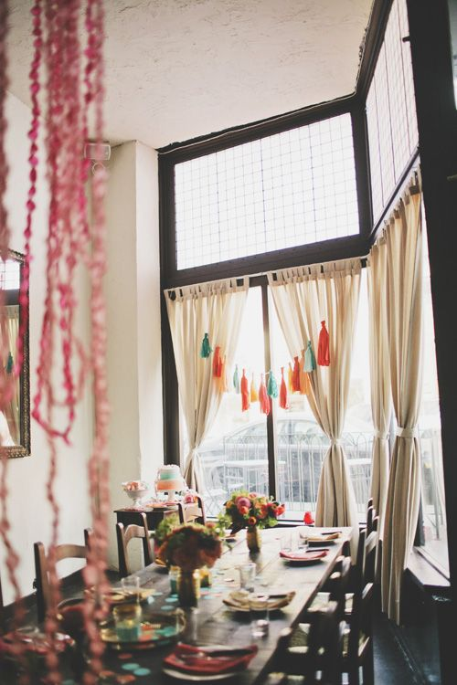 urban rustic meets colorful party decor