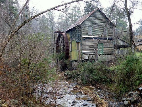 Head's Mill, in Hall County, GA, was last remodeled during the Great Depression by then-owner F.H. Turner, who replaced its wooden water wheel and millrace with metal. By the end of WW II in 1945, however, the availability of electricity throughout rural Hall County, combined with a booming manufacturing economy and increased availability of store-bought dry goods, had all but eliminated demand for hydraulic power.
