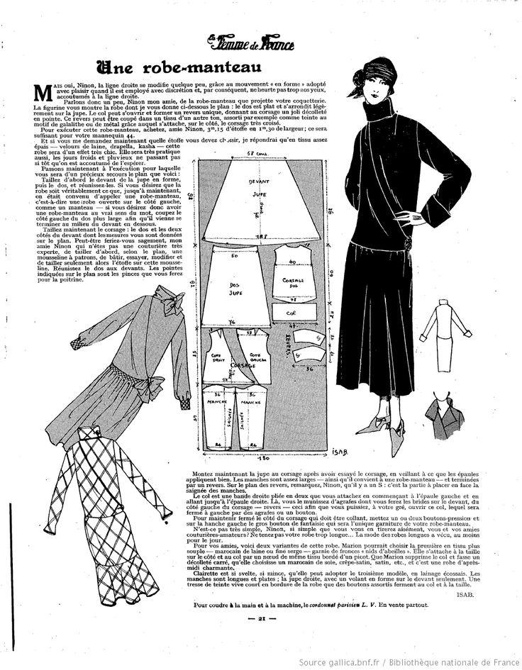 Robe manteau (La Femme de France 10/02/1924)