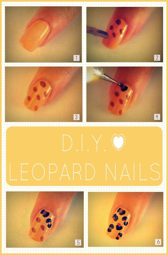 DIY Leopard nails #diy #easynailart #fabnailart