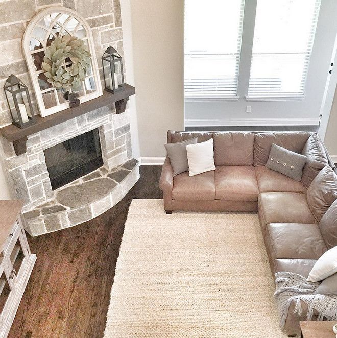 Fireplace mantel. The fireplace mantel is Cedar stained in espresso. Dark stained mantel. Beautiful Homes of Instagram ceshome6