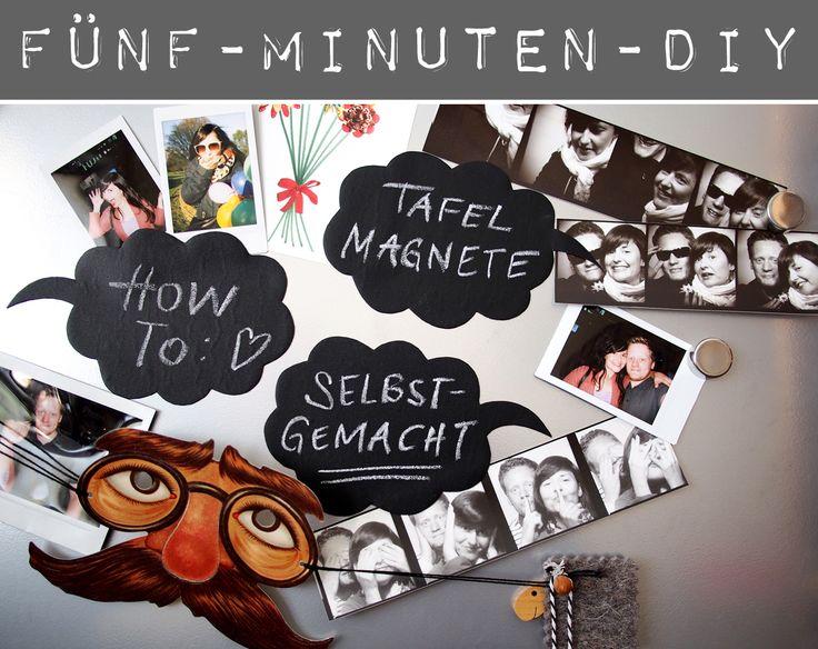 """DIY in fünf Minuten: Sprechblasen-Tafel-Magnete - """"Fee ist mein Name"""""""