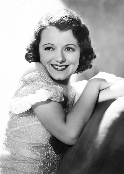 """Janet GAYNOR (1906-84) X1 * AFI Top Actress nominee, on receiving the first Academy Award for Best Actress in 1928) - """"Naturally, I was thrilled but being the first year, the Academy Awards had no background or tradition, and it naturally didn't mean what it does now. Had I known then what it would come to mean in the next few years, I'm sure I'd have been overwhelmed. At the time, I think I was more thrilled over meeting Douglas Fairbanks."""" Photo: 1930s"""