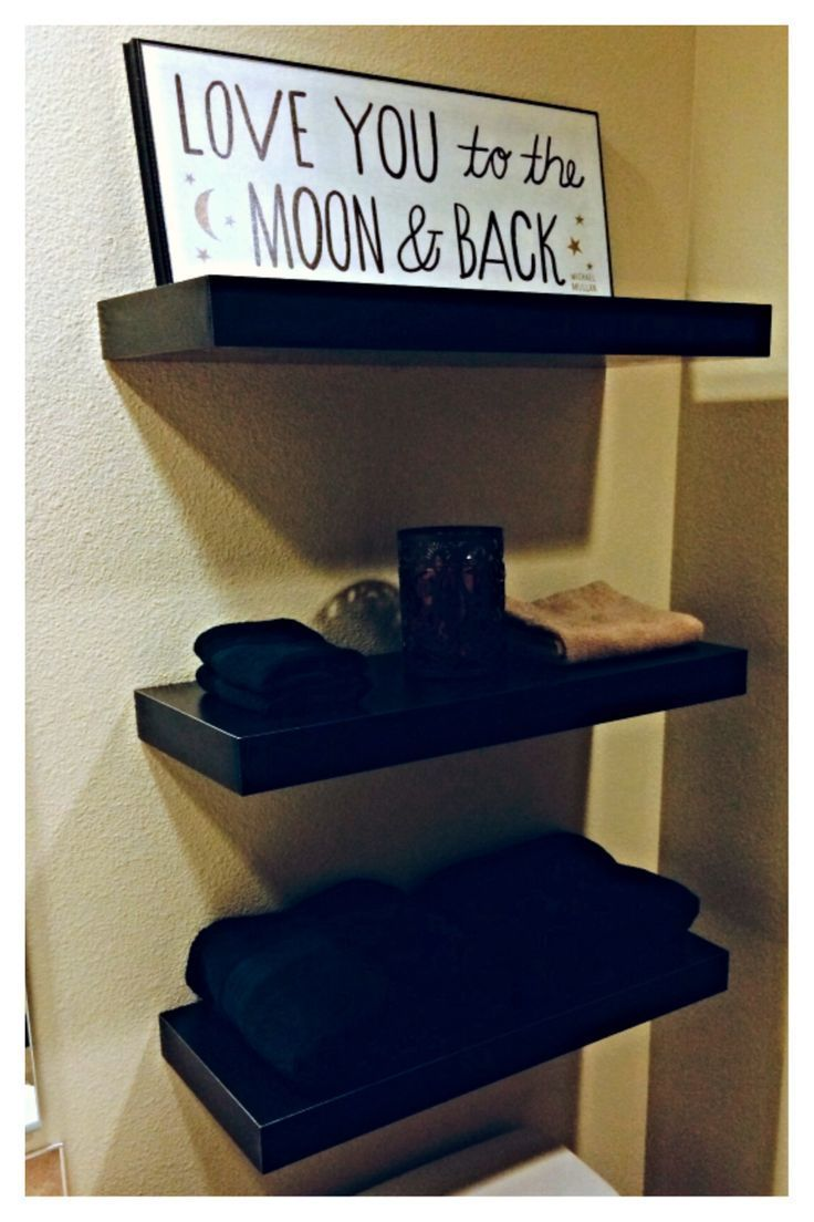 Small bathroom shelves above toilet   Love you to the moon and back home decor  …   – Shelvess