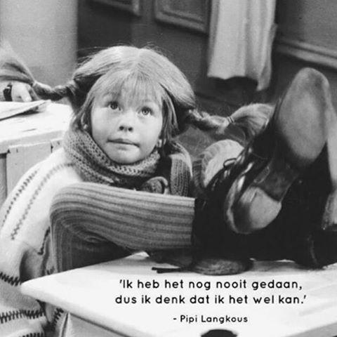 Ge-wel-di-ge quote ❤️ #favoriet #quote #pippilangkous #alsjemaarprobeert