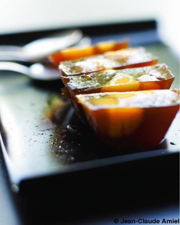Gelée de thé rouge à la mangue pour 4 personnes - Recettes Elle à Table