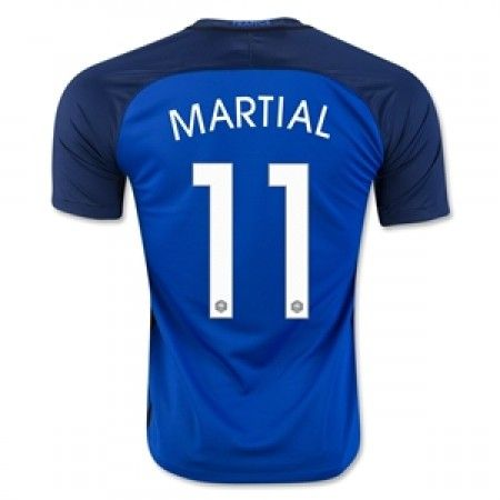 Frankrike 2016 Anthony Martial 11 Hjemmedrakt Kortermet.  http://www.fotballteam.com/frankrike-2016-anthony-martial-11-hjemmedrakt-kortermet.  #fotballdrakter