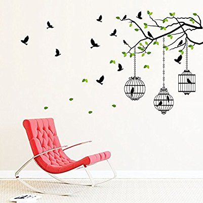 Buy Flying Birds With Case Wall Decal at Lowest Prices in India | Wall Art - SRG India   #birds #wallart #art #homedecor #design