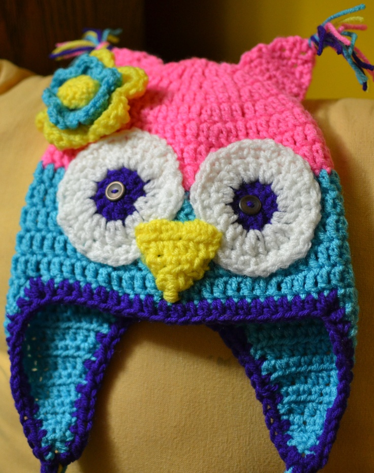 16 Best Crochet Owl Hats Images On Pinterest Crochet Owl Hat Free