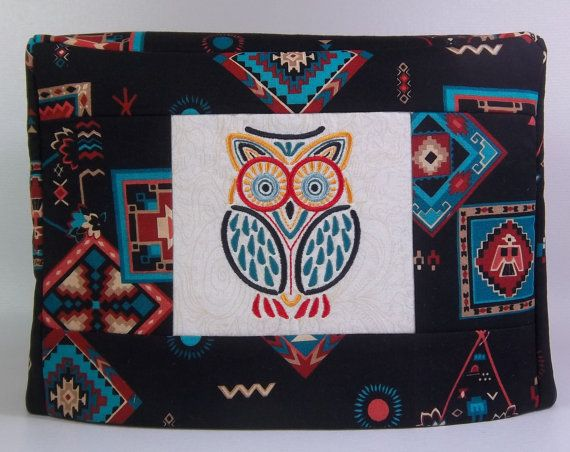Southwestern Toaster Cover  Mola Owl by PatsysPatchwork on Etsy