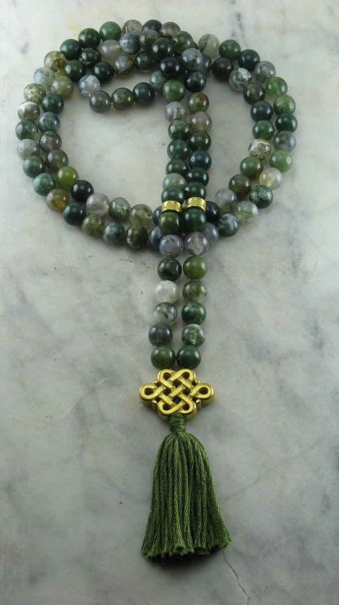 Ayurvedic_Stability_Mala_108_Moss_Agate_Mala_Beads_Buddhist_Prayer_Beads_Vata