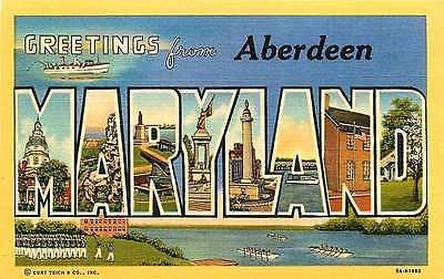 Aberdeen Maryland MD 1939 Large Letter Greetings from Aberdeen Vintage – Moodys Vintage Postcards