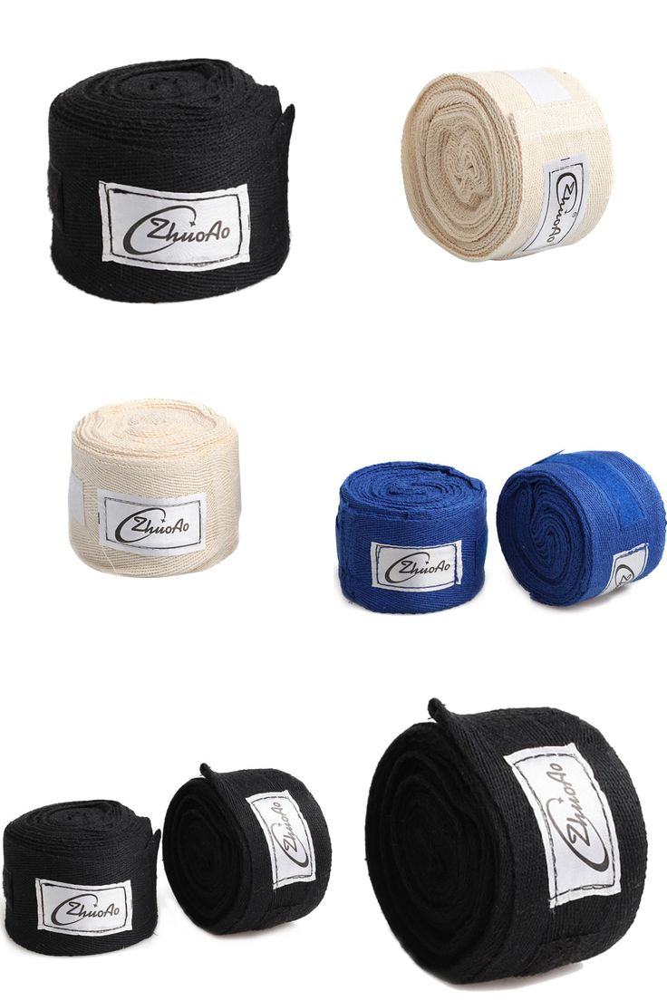 [Visit to Buy] 1 Roll 5M*5CM Cotton Boxing  Bandage Handwrap Punching Hand Wrap Boxing Sparring Gloves Tape Muay Thai Taekwondo Box Accessories #Advertisement