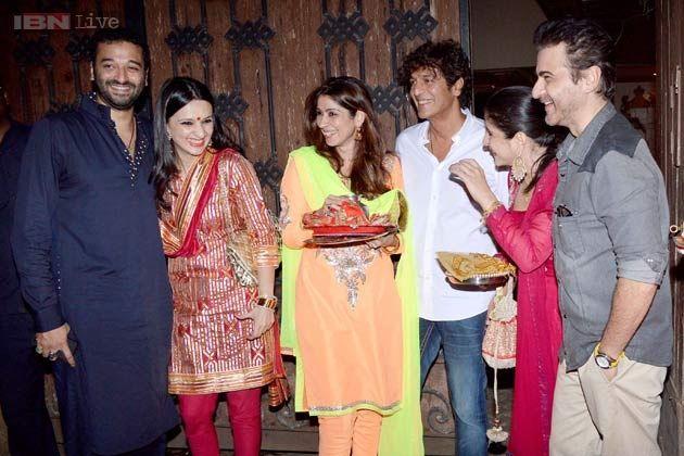 Sridevi, Boney Kapoor host Karva Chauth party, Aishwarya breaks her fast on Skype|Movies News Photos-IBNLive