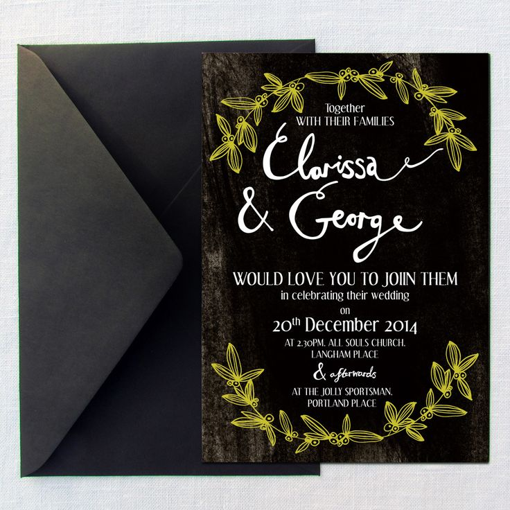 Hollyhock Lane Christmas wedding invitations