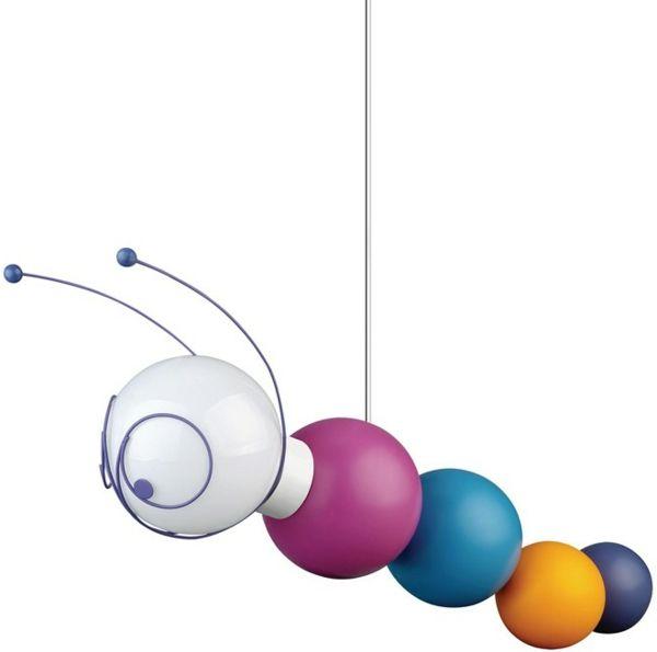 kindrzimmer beleuchten lampen hängelampe farbig lustig insekt