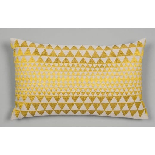 Niki Jones Isosceles Cushion Chartreuse   Hurn and Hurn