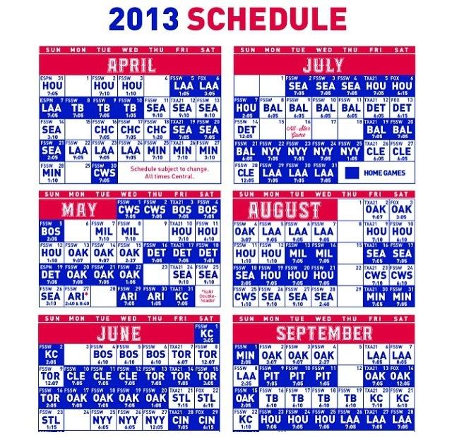 Texas Rangers -- let's play ball!