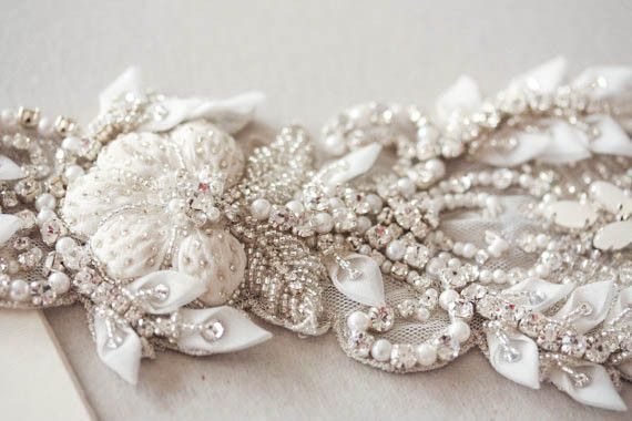 luxury wedding gown belt