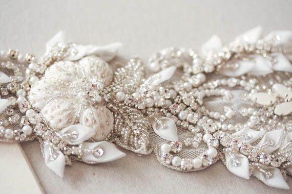 luxury wedding gown belt