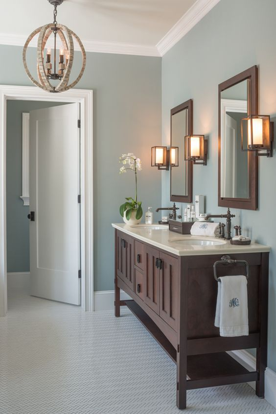 Mount Saint Anne by Benjamin Moore (wall color) Ceiling paint color: Gray Cashmere by Benjamin Moore Mondavi Home Mount Saine Anne is one of my favorite blue/grays, as seen below. Have a fabulous Tues