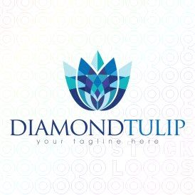 Exclusive Customizable Logo For Sale: Diamond Tulip | StockLogos.com