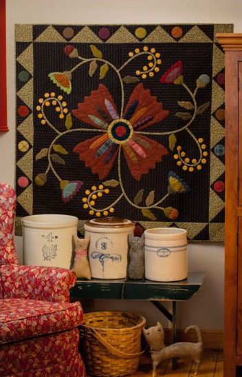 lovely...Quilt Shops, Beautiful Quilts, Wall Quilt, Wall Hanging, Wool Applique, Simple Grace, Bittersweet Briar, Kim Diehl Quilt, Quilt Pattern