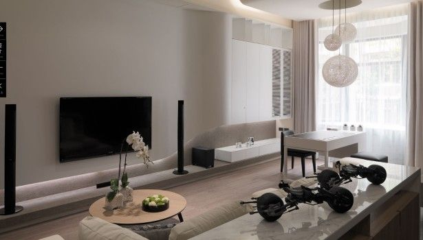 Living Room Light Gray Living Room Modern White Marble Shelf Room Divider Round Solid Oak Wood Top Coffee Table Contemporary Living Room Attractive Easy Living Rooms Decoration That Make Romantic  Ambience